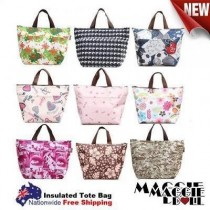 New Insulated Tote Bag | Cool Bag | Cooler Lunch Box Bag  - Multiple Designs[9 Pink]